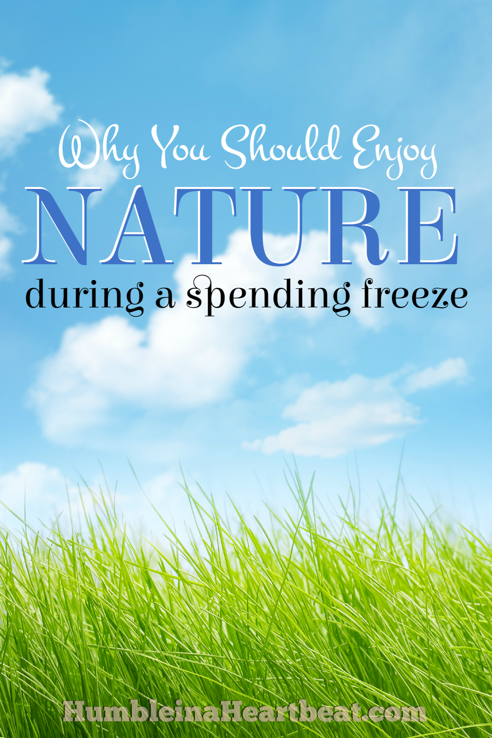 Give back to nature and enjoy it while enduring a spending freeze. It will help you forget your own problems and be more grateful for what you already have.