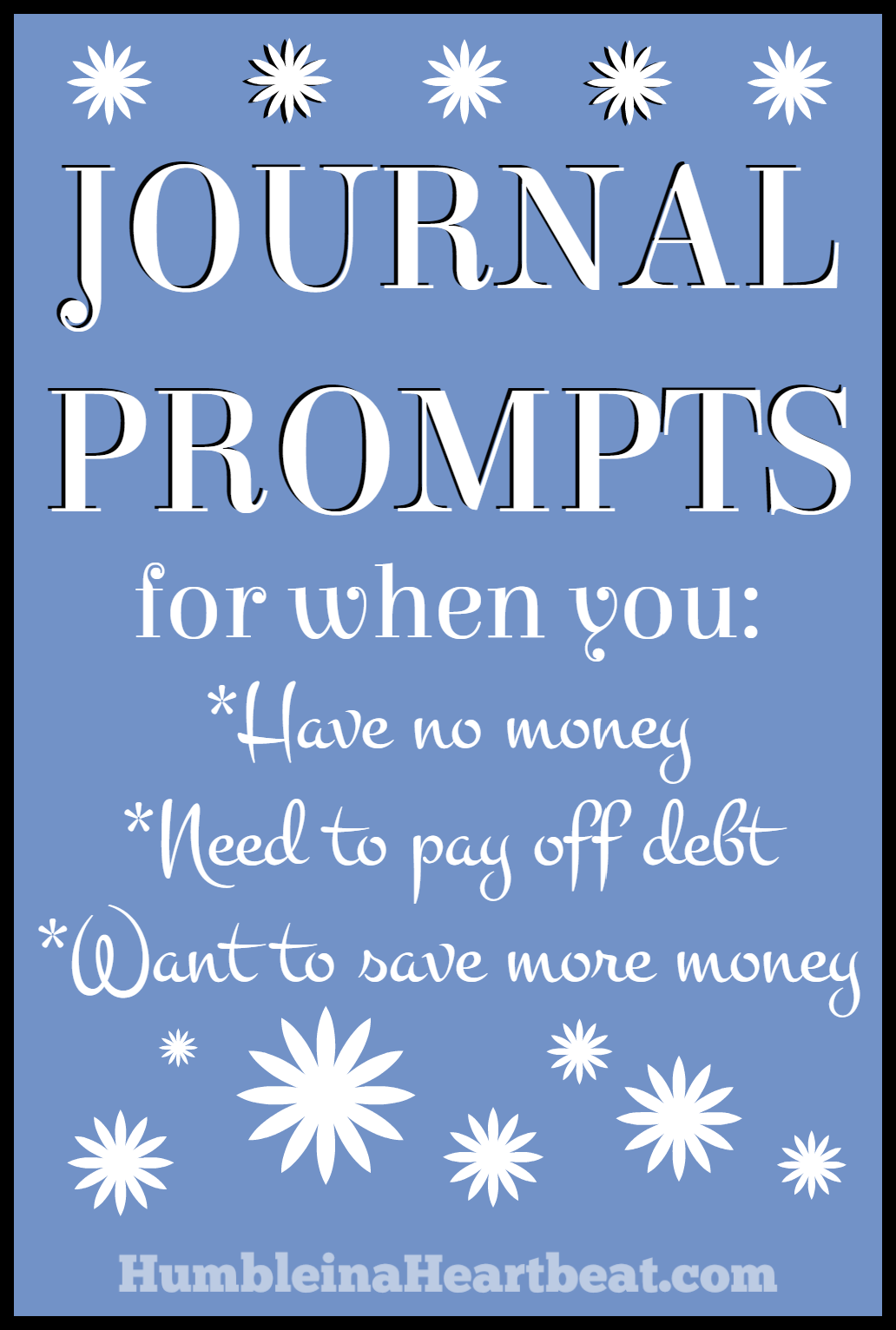 Can you get through a spending freeze without digging deep and finding out more about you and your relationship with money? Sure, but I find it easier when I can write my thoughts down. Here are awesome journal prompts to help you when you need them.