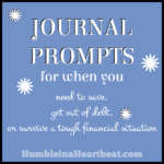 Journal Day: Surviving a Spending Freeze