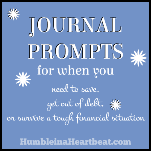 Journal Day: Surviving a Spending Freeze