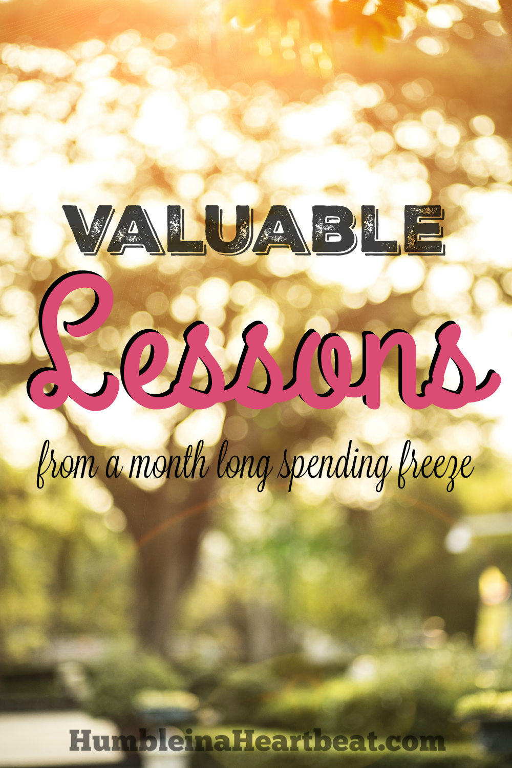 Your life can be better and you can be changed by participating in a spending freeze. These are the 4 lessons I took away from a month long spending freeze.