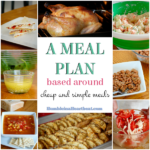 Writing Out a Menu Plan Based Around Cheap Meals
