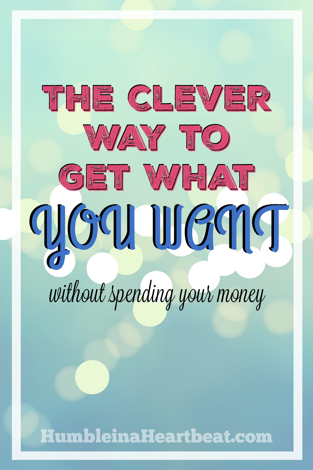 When you have no money to spend on what you really desire it can be tough. Use this one clever trick to get what you want whether you are penniless, trying to get out of debt, or want to save your money.