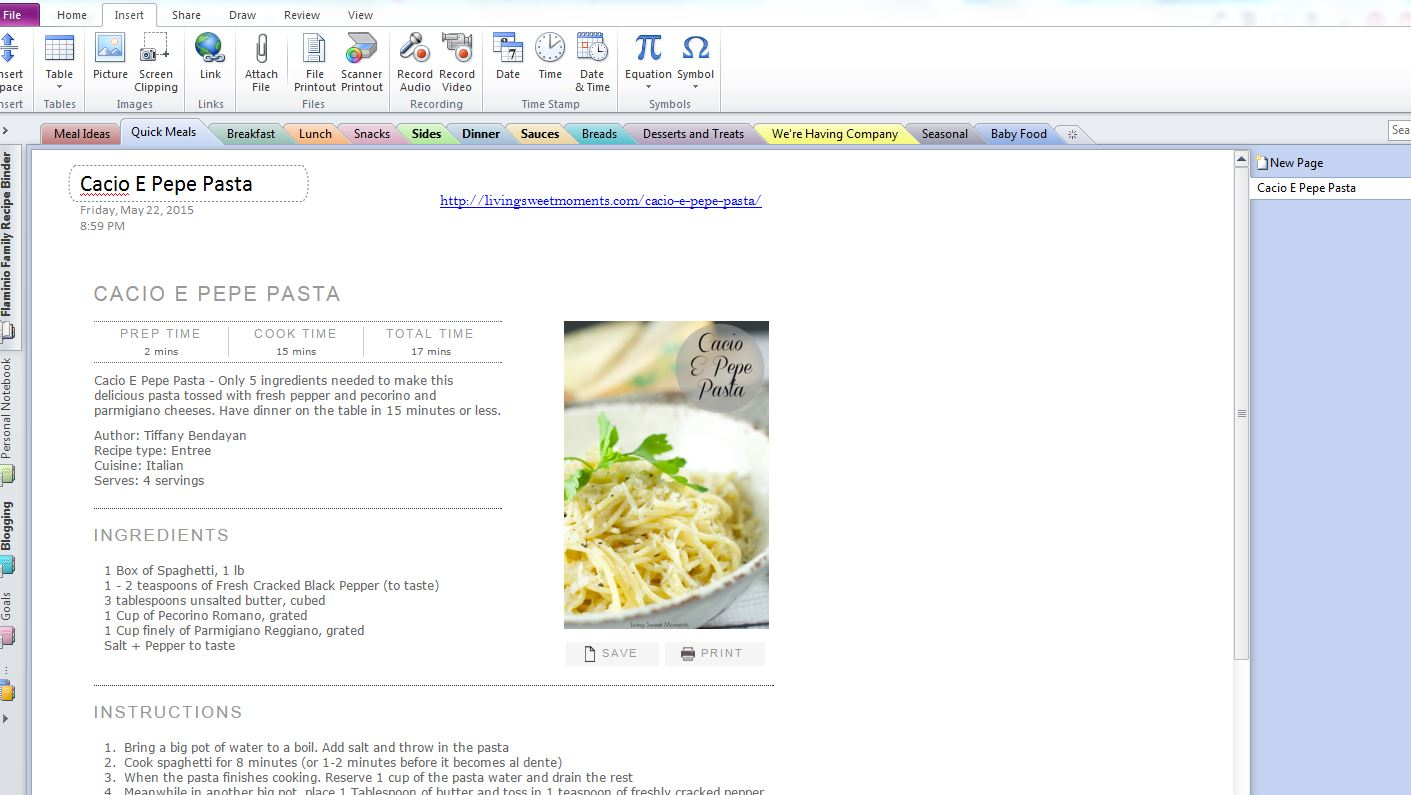 Have you got recipes here, there, and everywhere?? Then you need some organization, girl! Here's how to use Microsoft OneNote for getting your recipes organized so you can search less and cook more!
