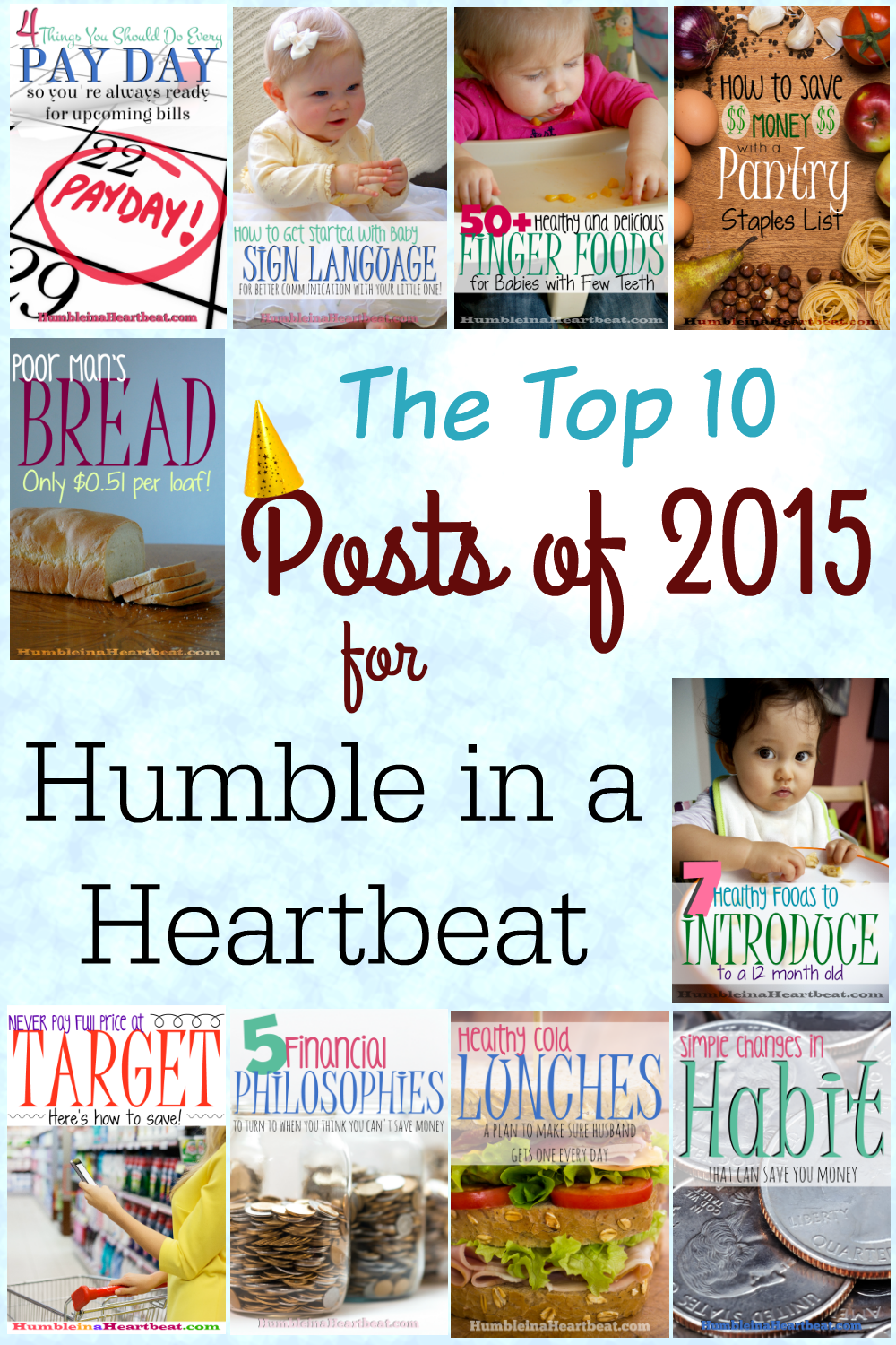 Check out the Top 10 posts of 2015 for Humble in a Heartbeat!