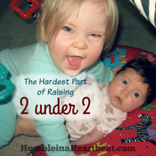 The Hardest Part of Raising Two Kids Under the Age of 2