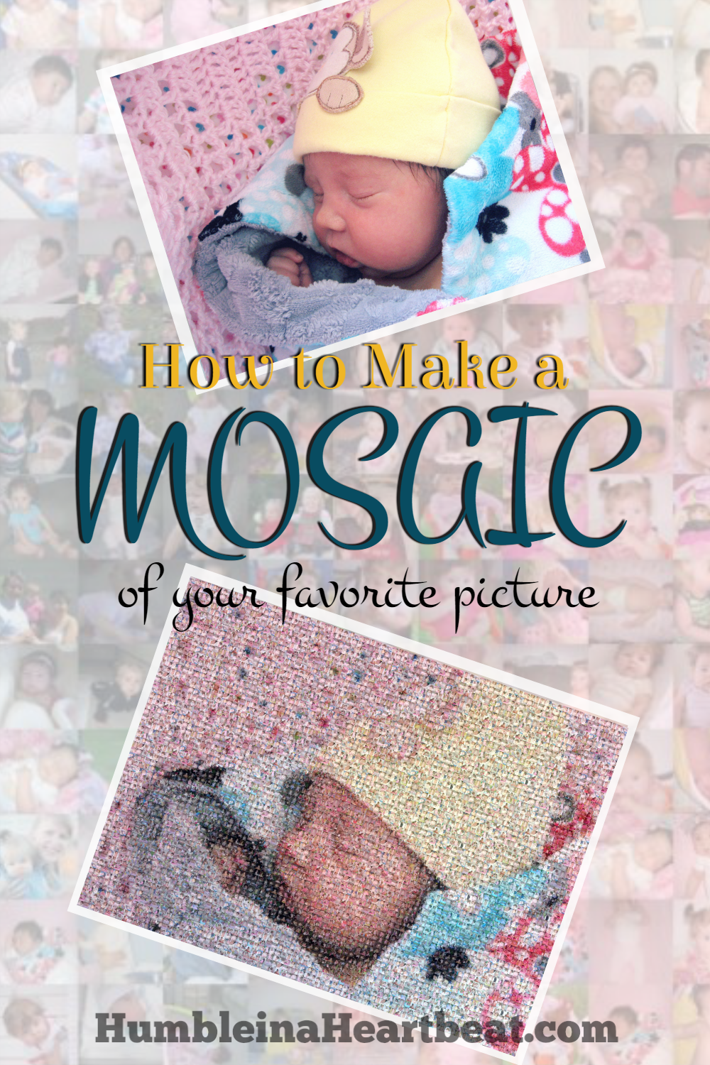 Trouble finding just the perfect picture to hang on your wall? Why not hang them all by creating a photo mosaic of your favorite picture? It's easy, cheap, and a real ice breaker!