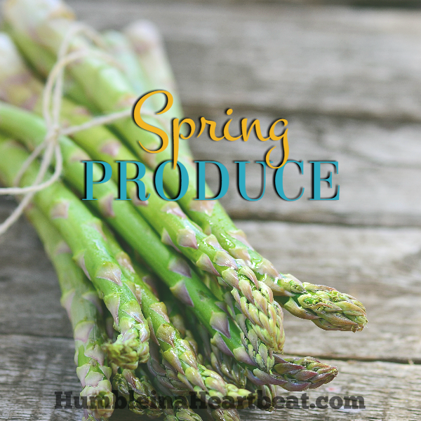 Spring has some wonderful produce to add to your weekly meal plan. Buying in season not only saves money, it tastes better, too! If you'd like to add more variety to your family's meals, be sure to reference this list of produce that is in season in spring.