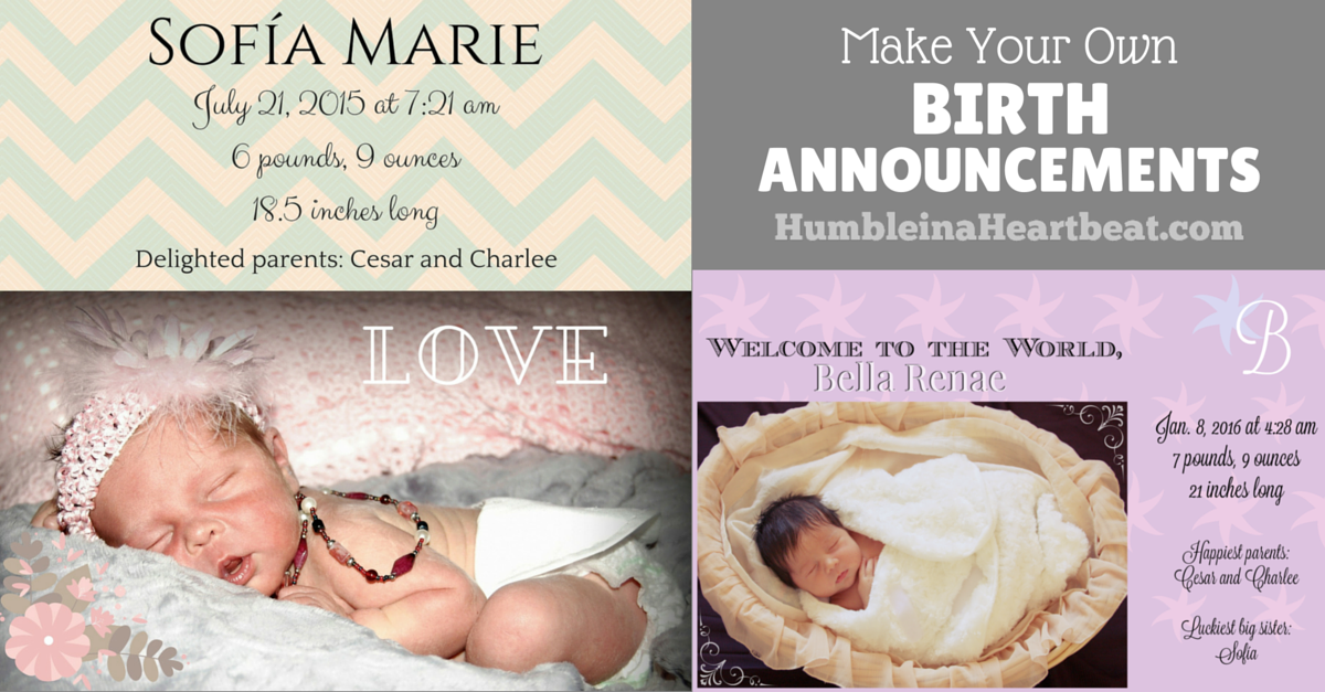 How to Create Your Own Birth Announcements to Save Money – Facebook Birth Announcements