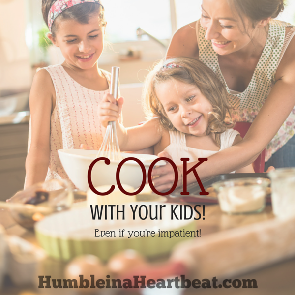 Cooking with kids has so many short-term and long-term benefits! This impatient mom wants to involve her kids in cooking even though it stresses her out. Here's why...