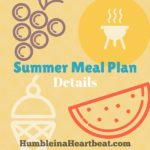 Our Simple Summer Meal Plan {Free Printable}