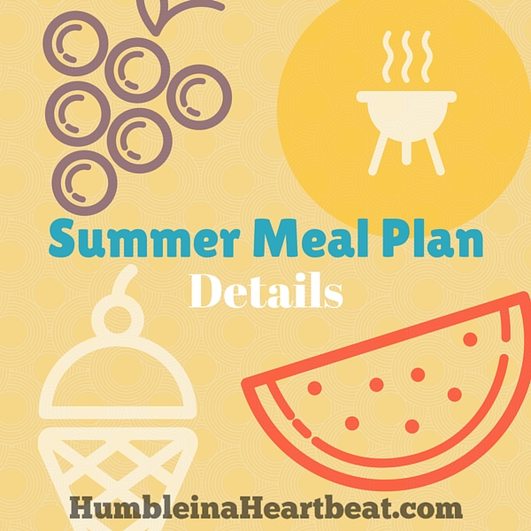 Have you got a busy summer ahead of you? Or maybe you just really don't want to spend too much time in the kitchen and relax for once? Then you need to get a summer meal plan in place now!