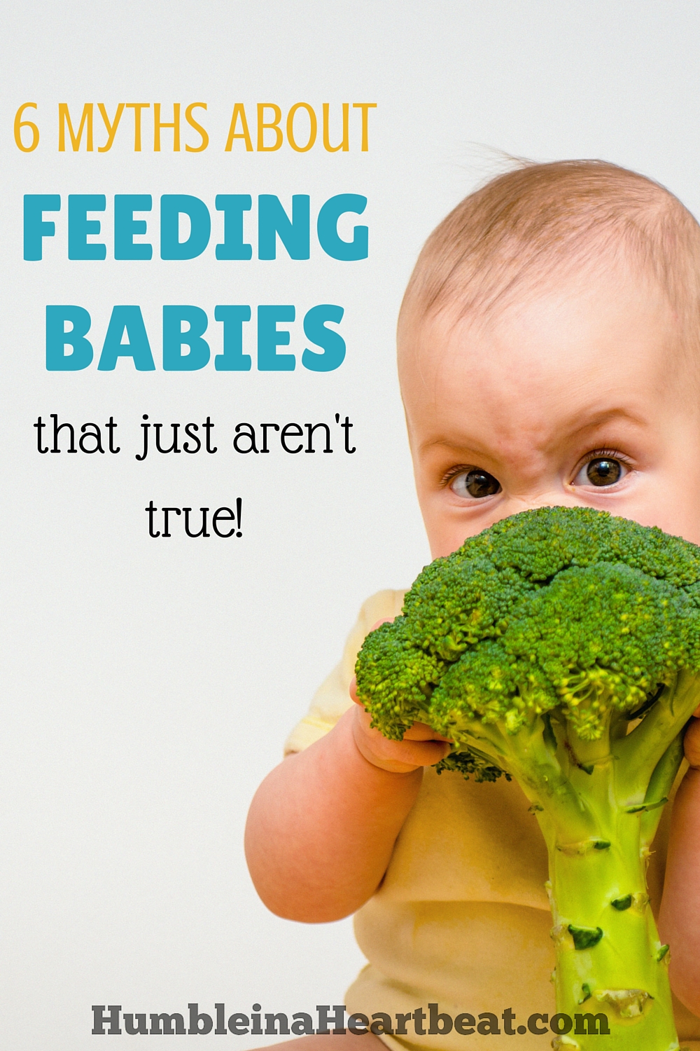 If you're ready to start feeding your baby food, you need to read this first. So many things about feeding babies just aren't true!