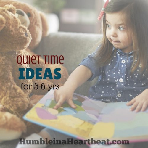 Terrific Quiet Time Activities for 3-6 Year Olds
