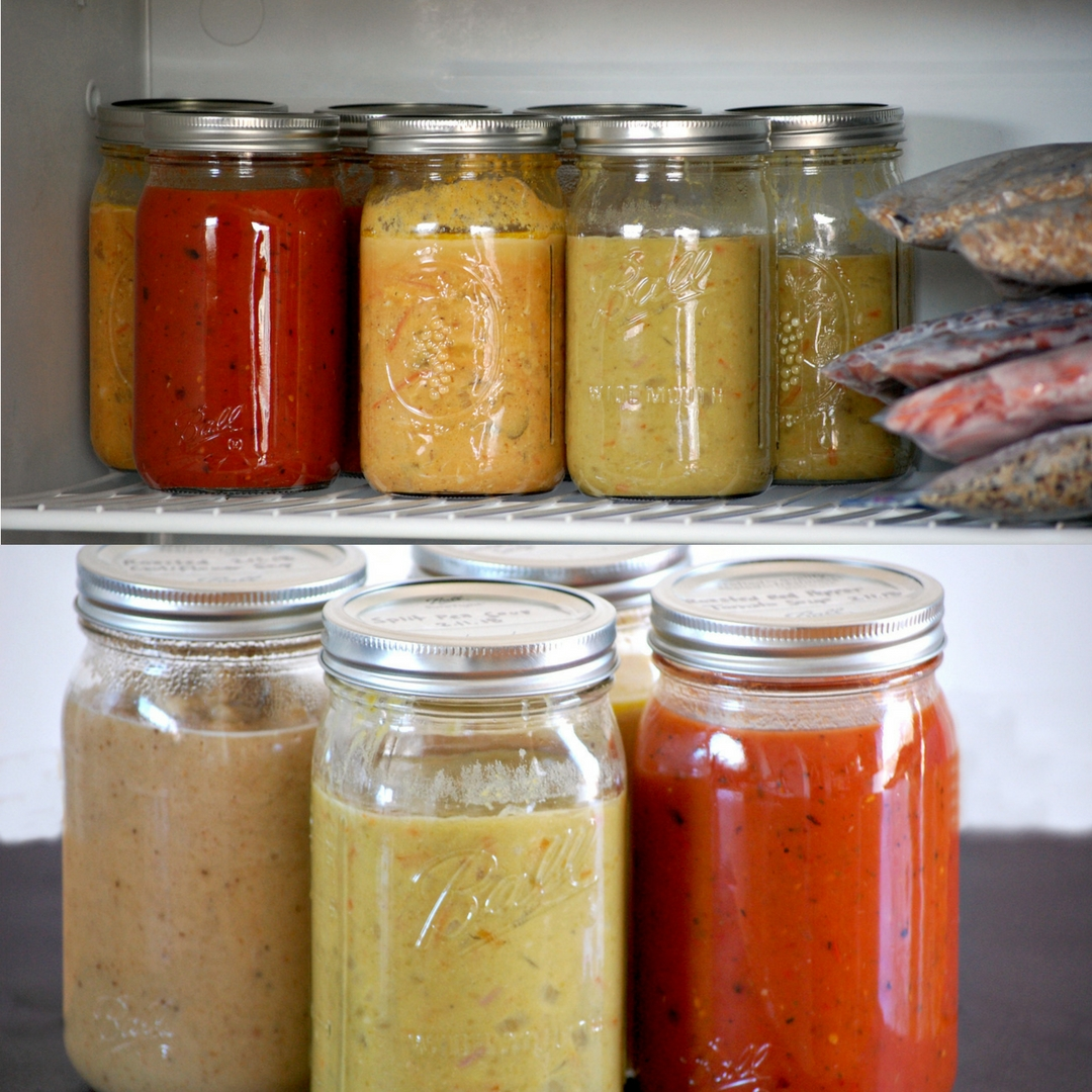 Freeze And Thaw Soup In Mason Jars
