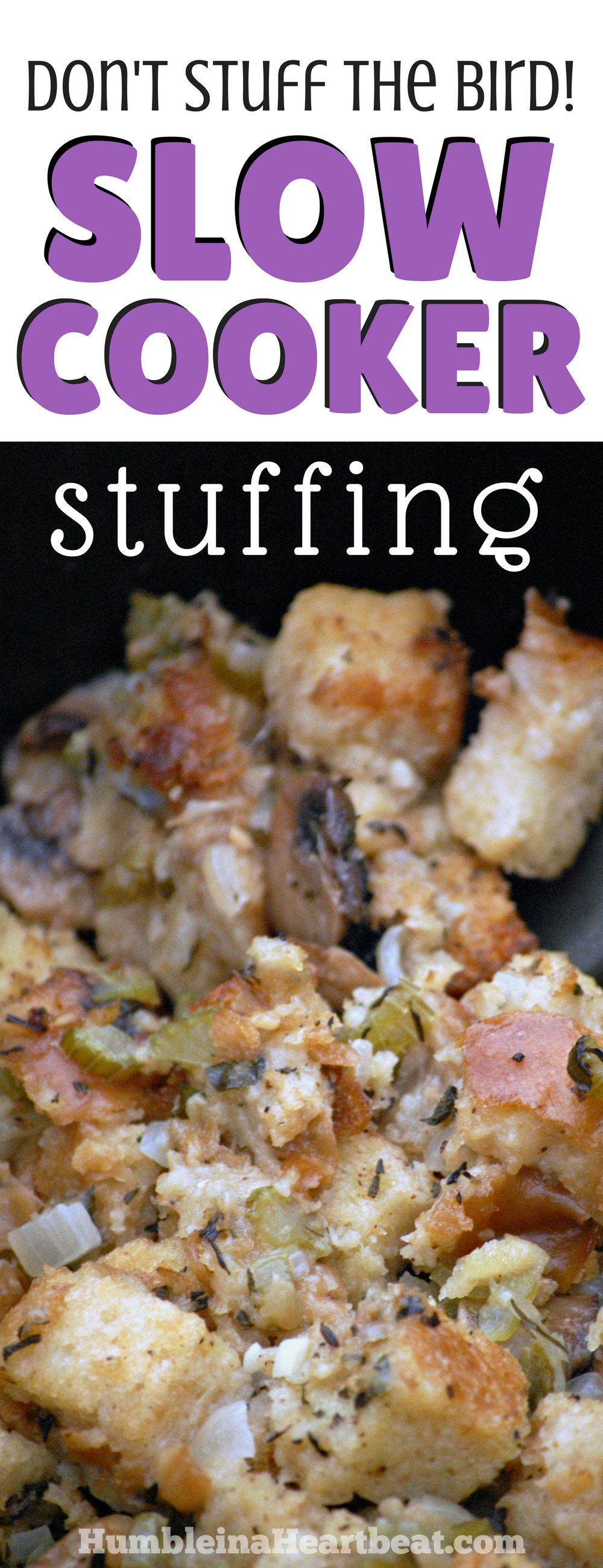 Your holiday meal just got easier with this prep ahead slow cooker stuffing. The perfect Thanksgiving {or Christmas} side dish!