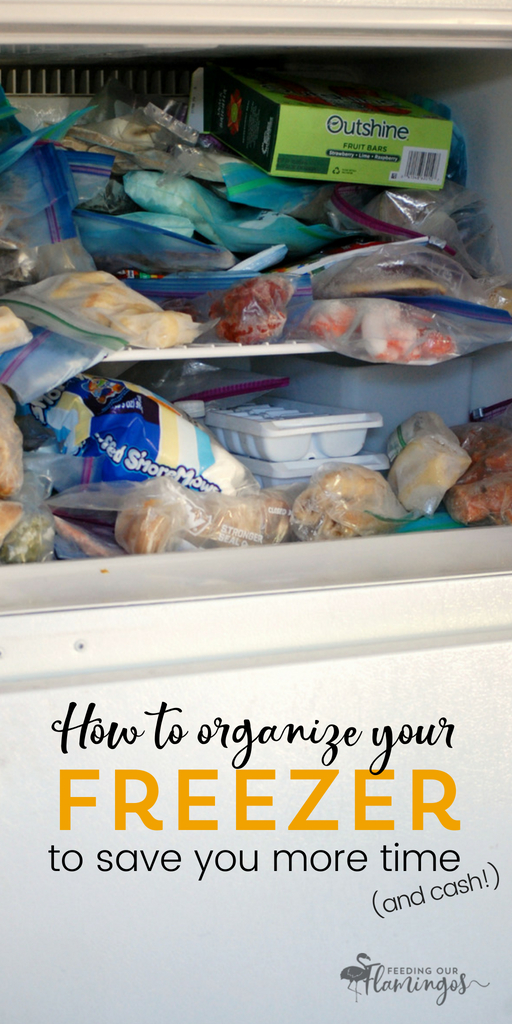 Want to save time, money, and eat better? Learn how to organize your freezer so it's easier to find what you're looking for and stop wasting good, wholesome food. #healthyeating #freezerfood #kitchenorganization