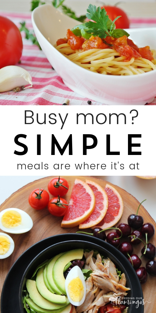 Trying too hard to give your family nutritious meals? Maybe give simple meals a try instead. They are still delicious and just as healthy, but you spend way less time getting them on the dinner table.